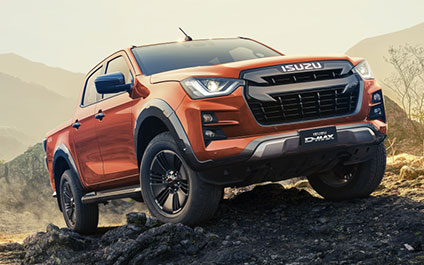 Close-up des ISUZU D-MAX Born Rock Climber 4 x 4-Terrain Volcanic Amber, Fotograf: Erik Williamson